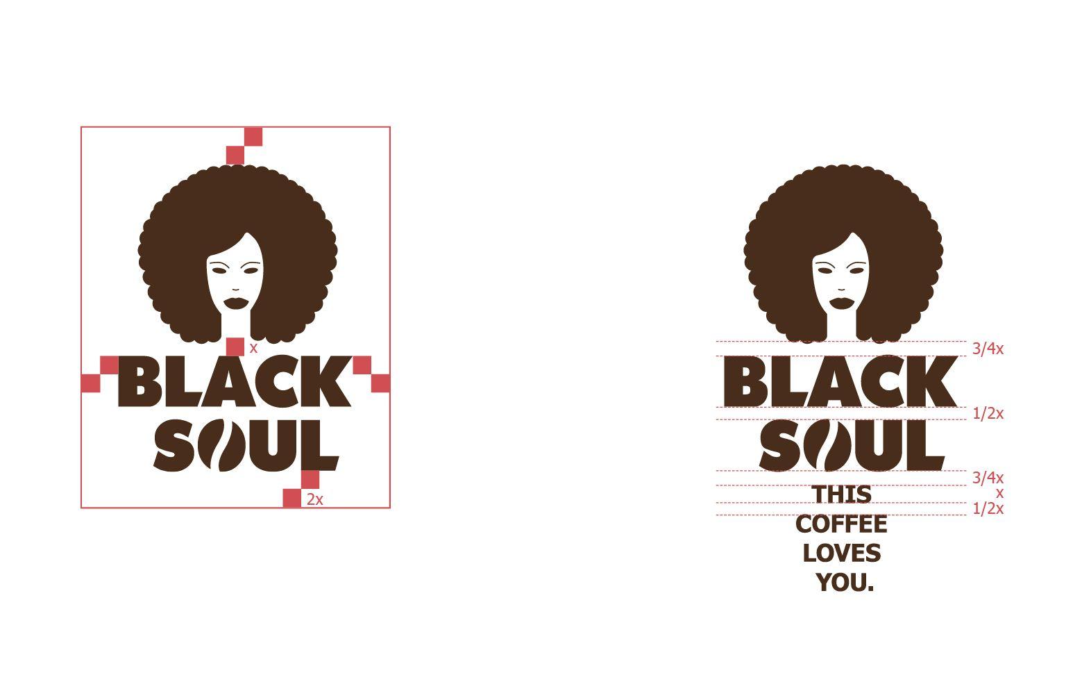 Logodefinitionen und Black Soul Logo mit Claim