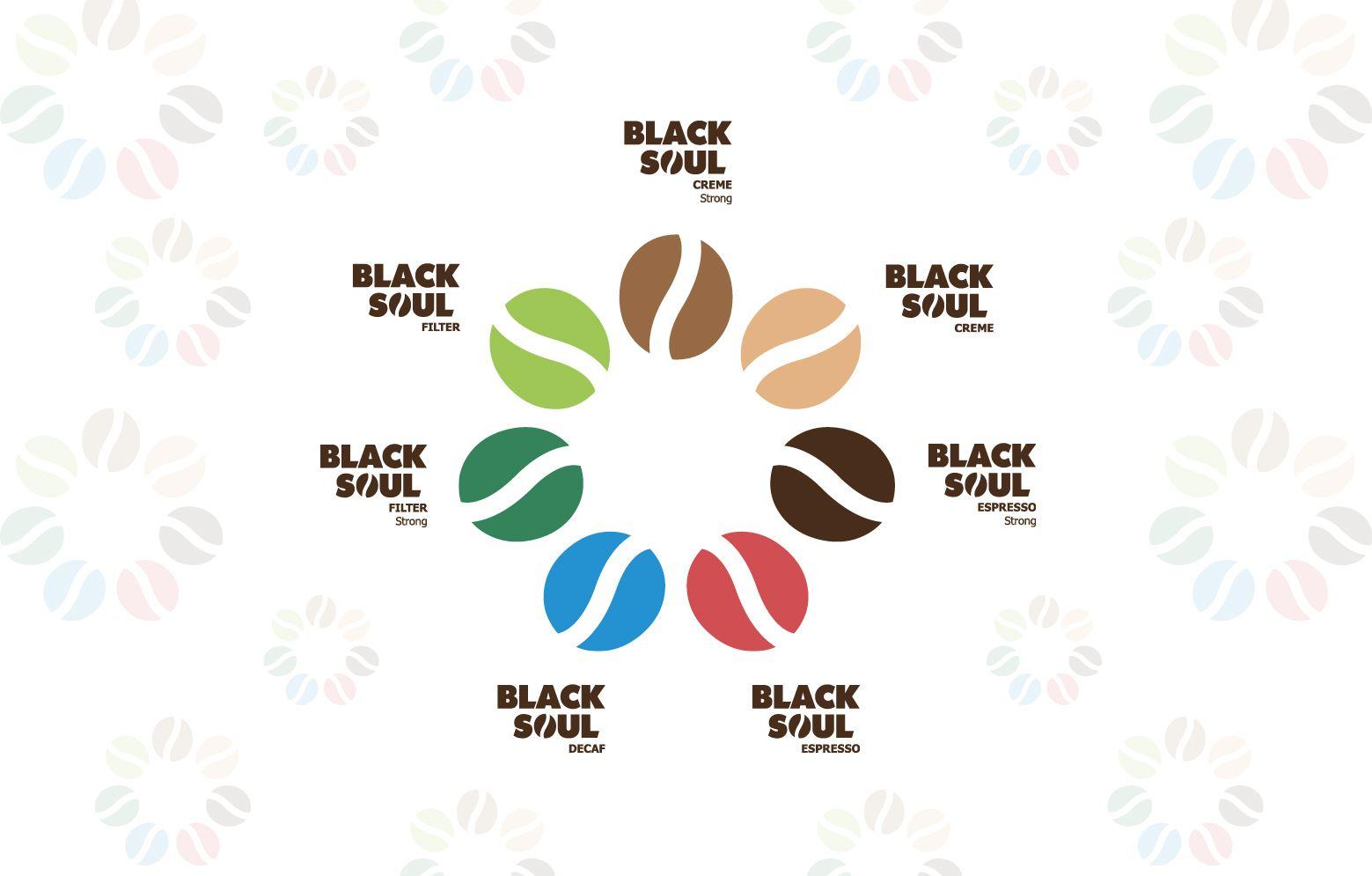 Bonensortiment als Blume angeortnet von der Kaffeemarke Black Soul