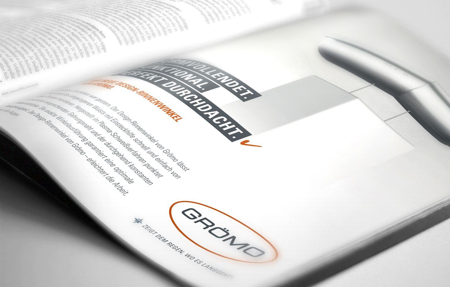 Anzeige vom Groemo Design-Rinnenwinkel