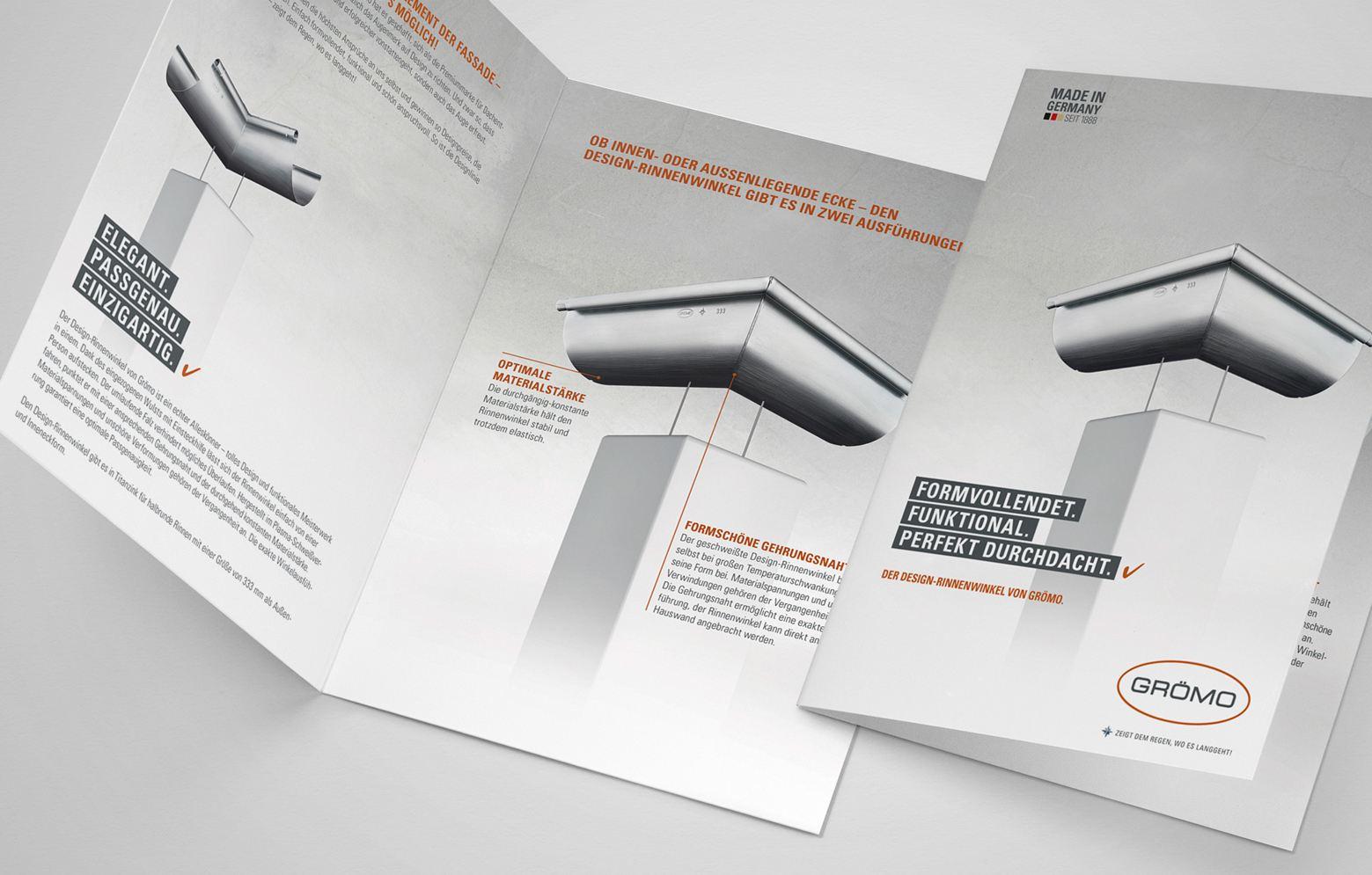 Prospekt des Groemo Design-Rinnenwinkel