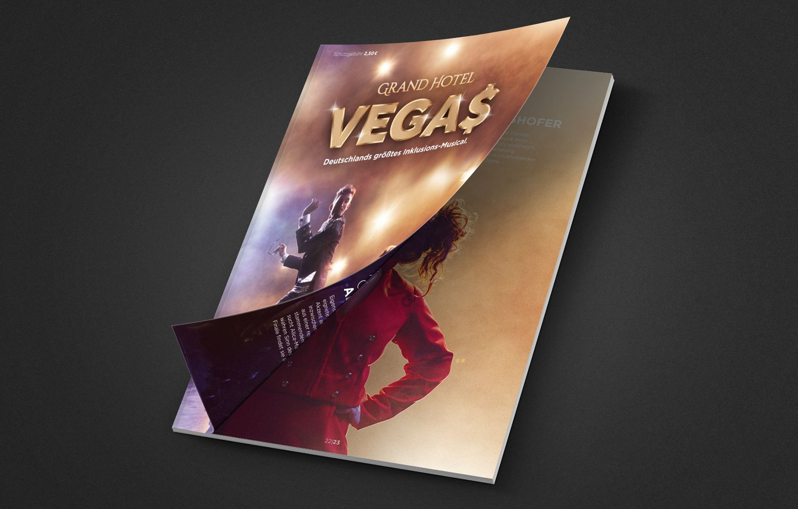 Programmheft des Grand Hotel Vegas