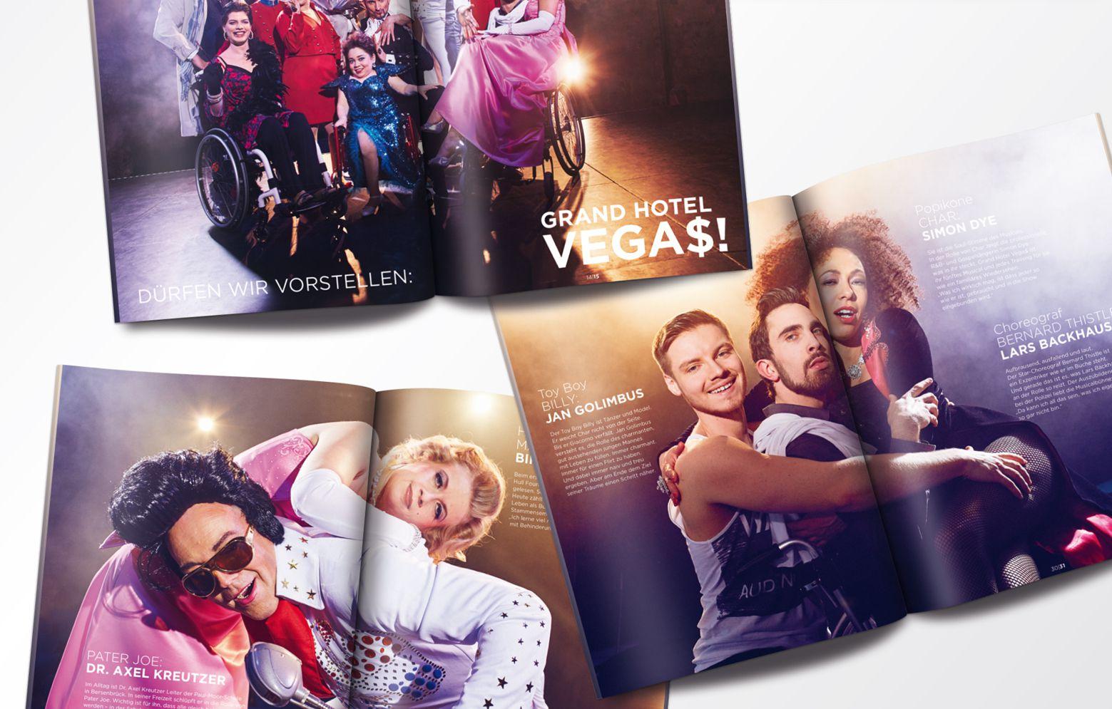 Innenseiten des Programmheftes des Grand Hotel Vegas