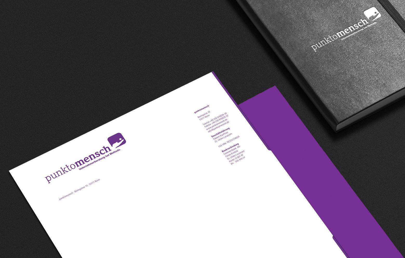 punktomesch Briefbogen Close-Up