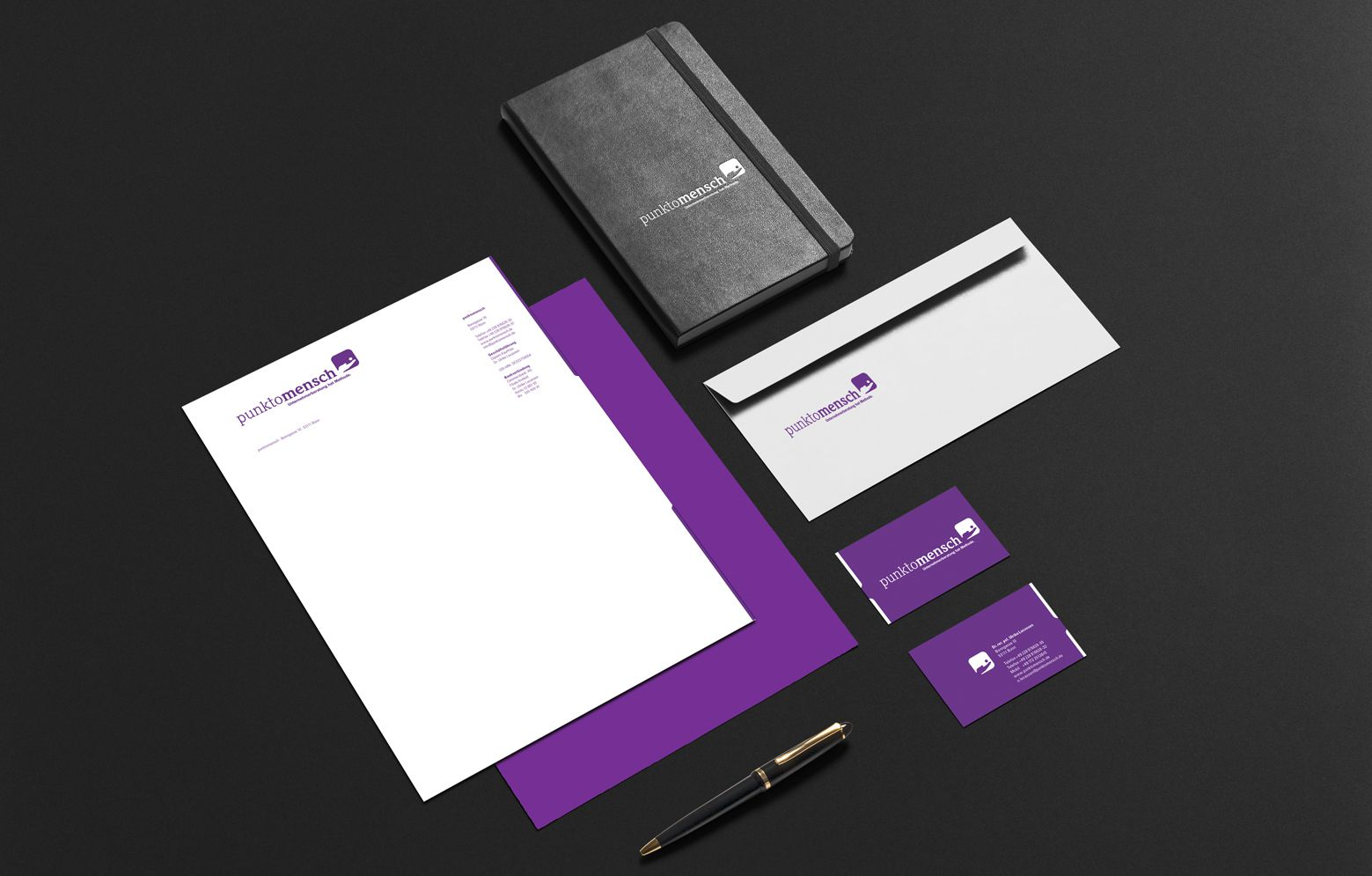 gesamte Geschäftsausstattung mit Briefbogen, Briefumschlag und Visitenkarte