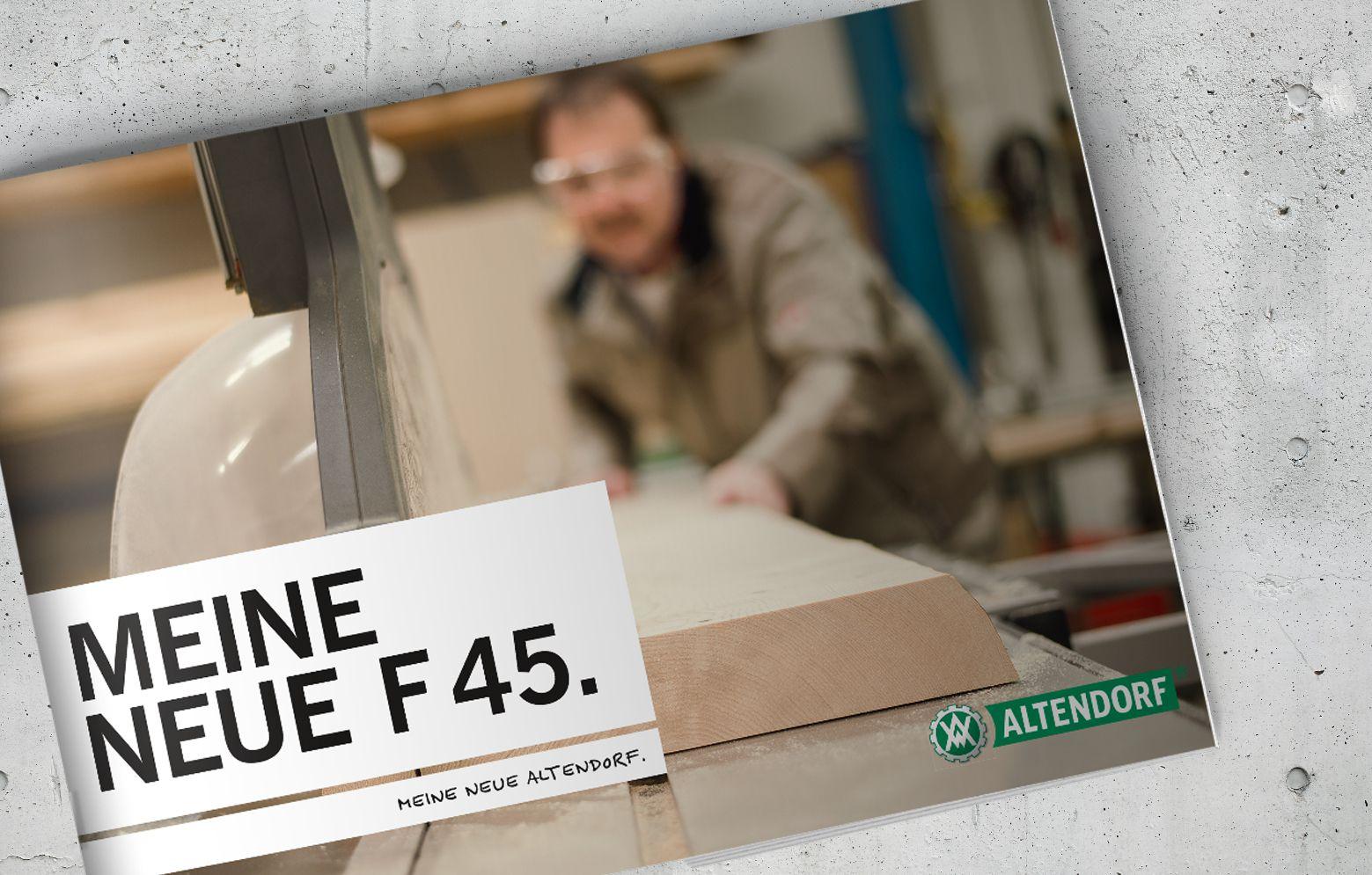 Die neue Imagebroschüre von Altendorf der F 45
