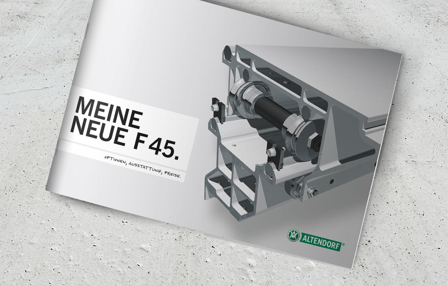 Titel der Preisliste der Altendorf F 45
