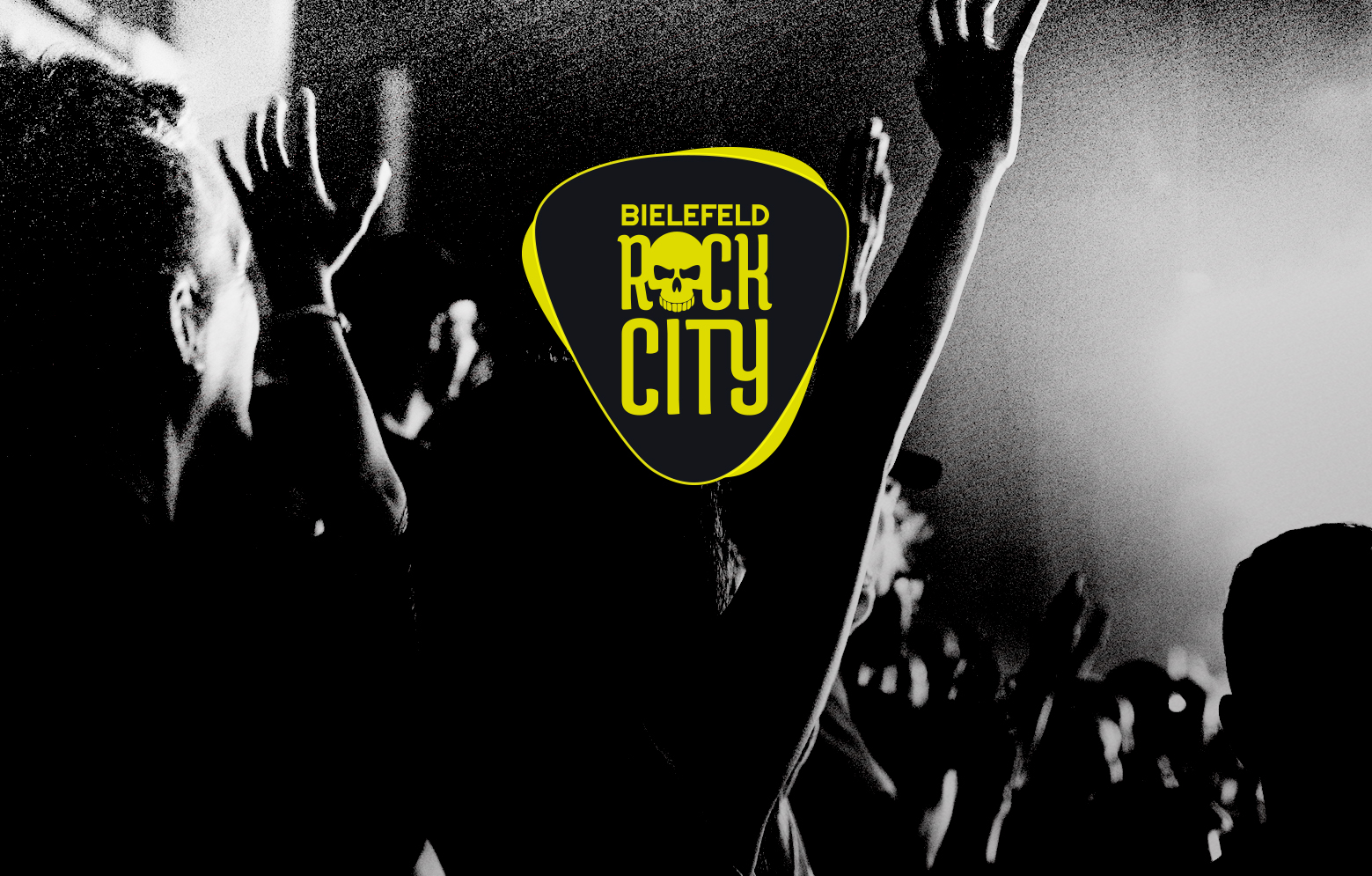 Hintergrundbild mit Bielefeld Rock City Logo