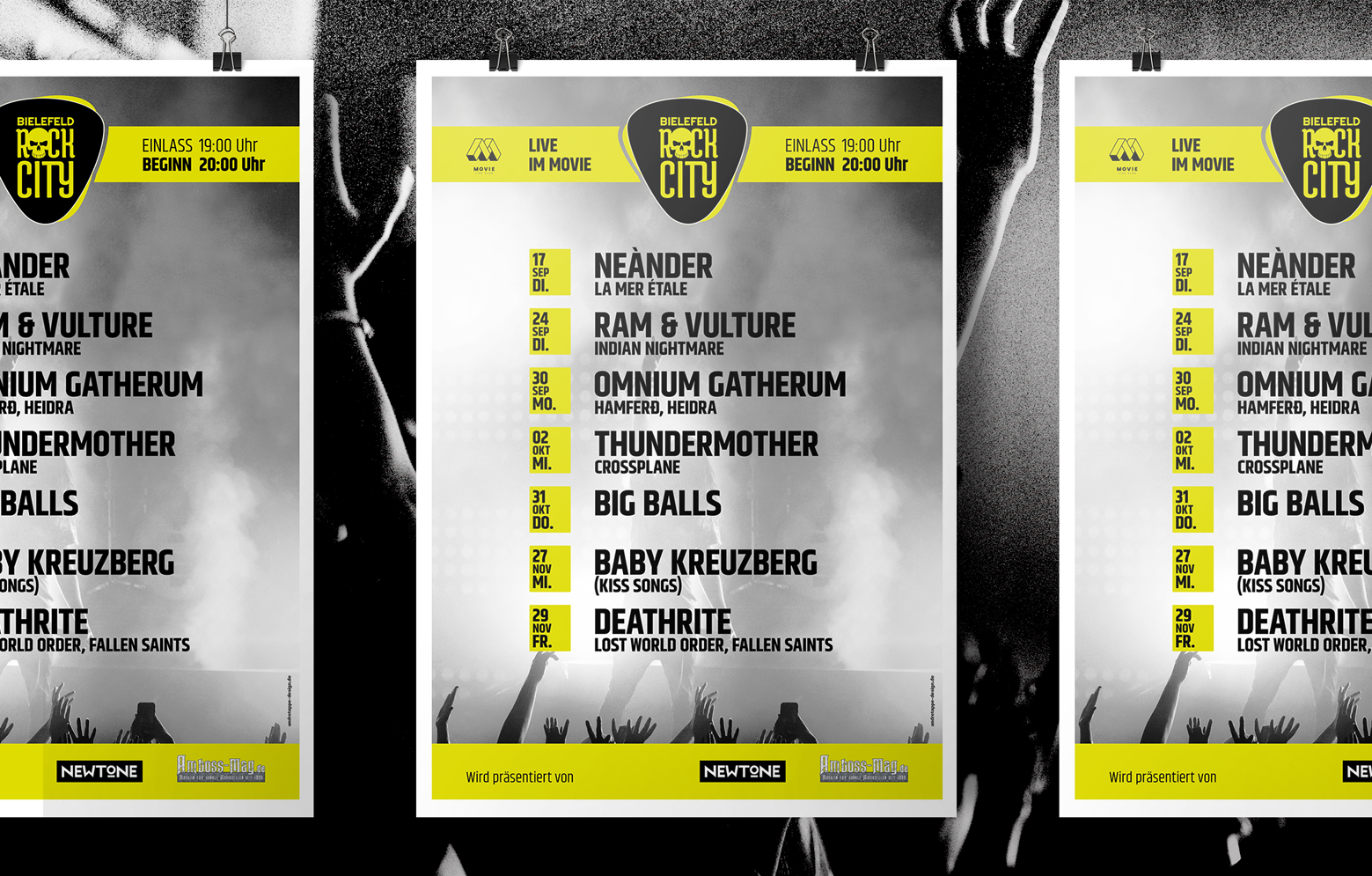 Veranstaltungsplakat von Rock City Bielefeld