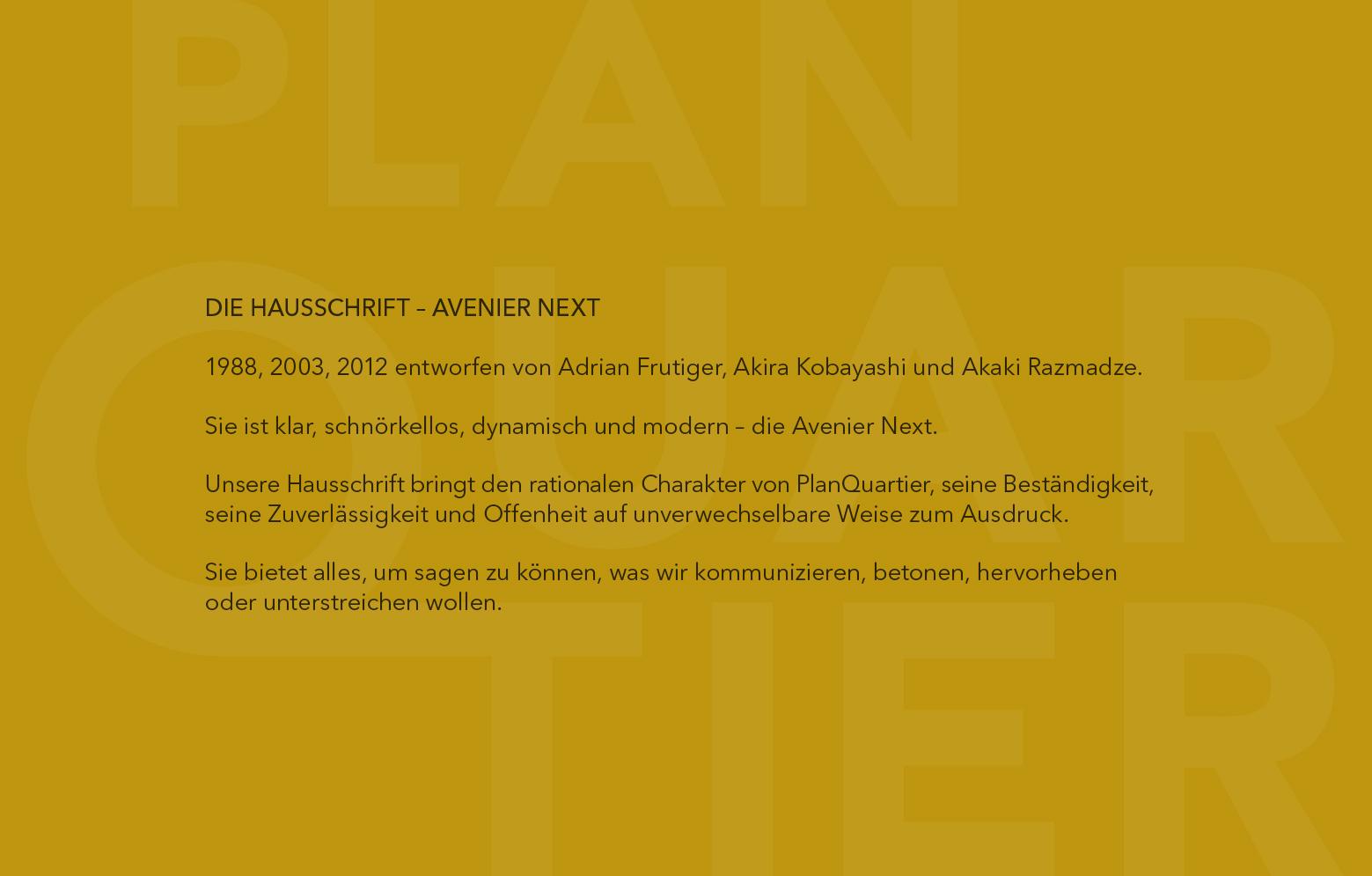 Hausschrift Avenier Next Pro
