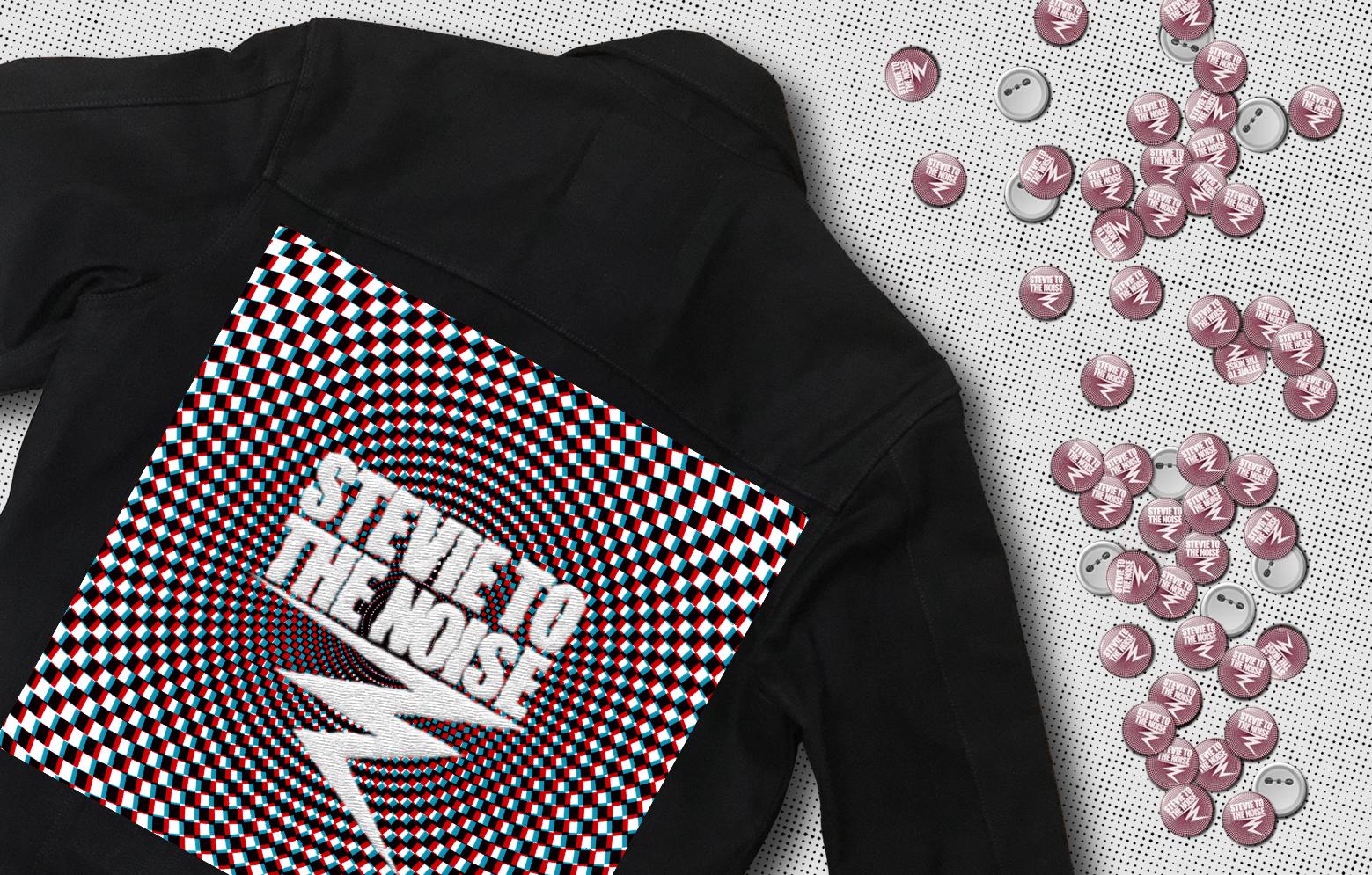 Kutte und Pins von Stevie to the Noise