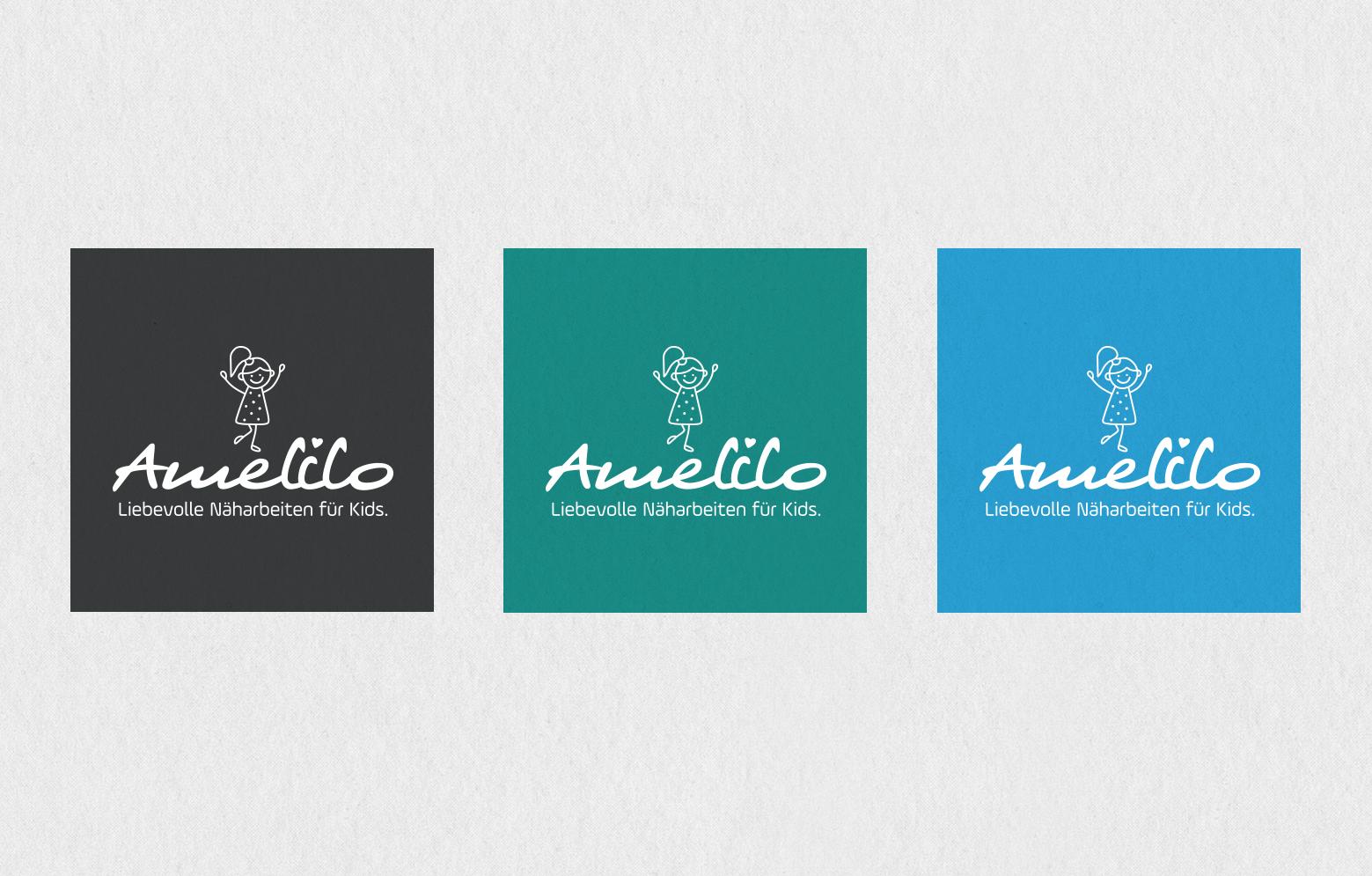 Amelilo Logos in den drei Farben