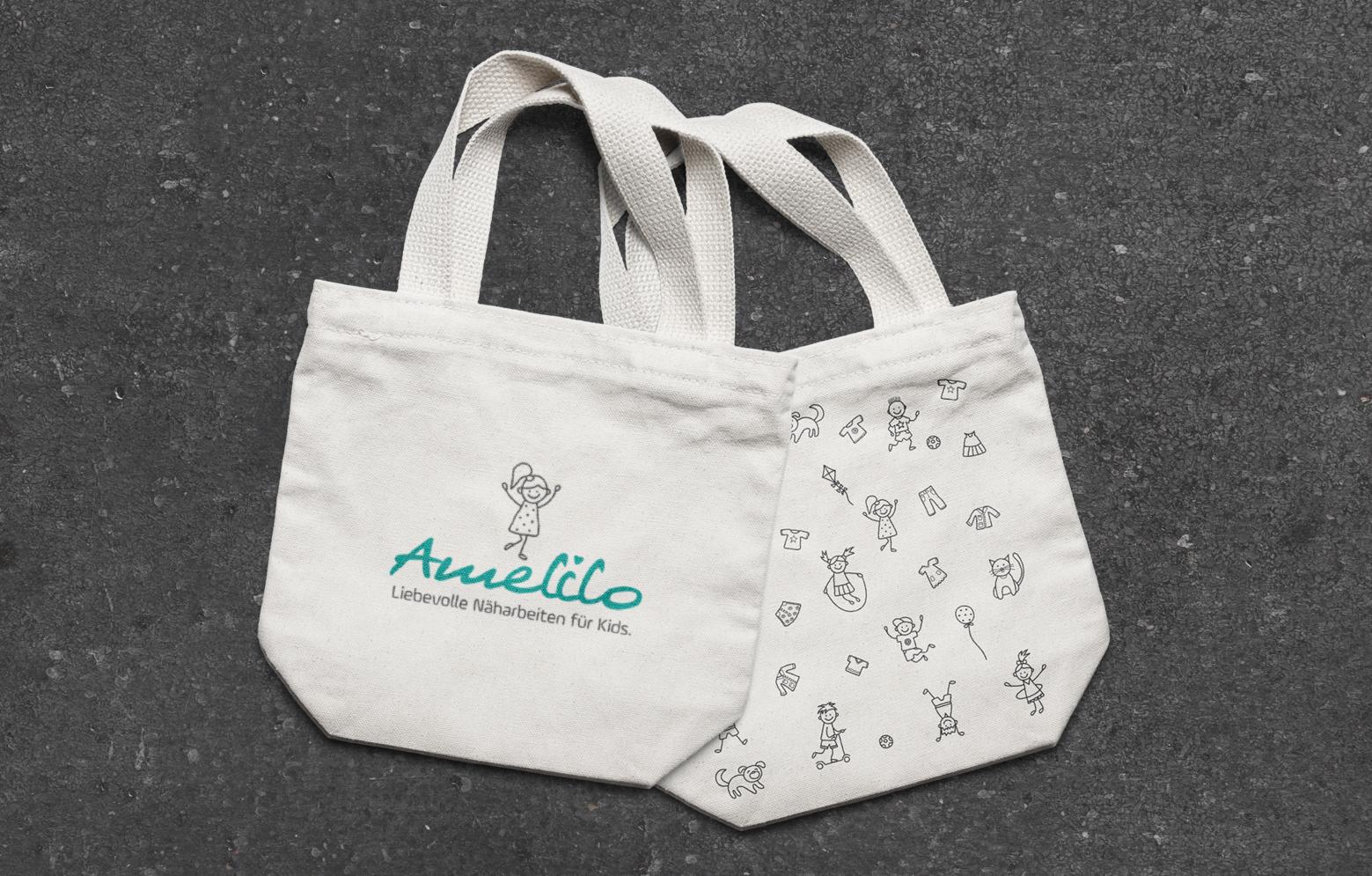Amelilo Stofftaschen mit Siebdruck