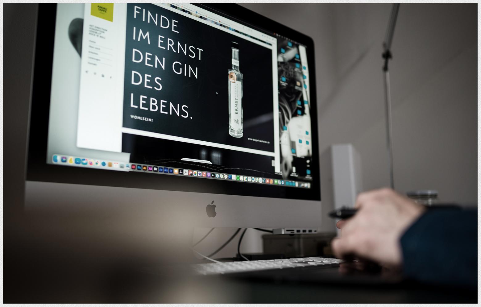 ERNST Making-Off Anzeige Finde den Ernst des Lebens.