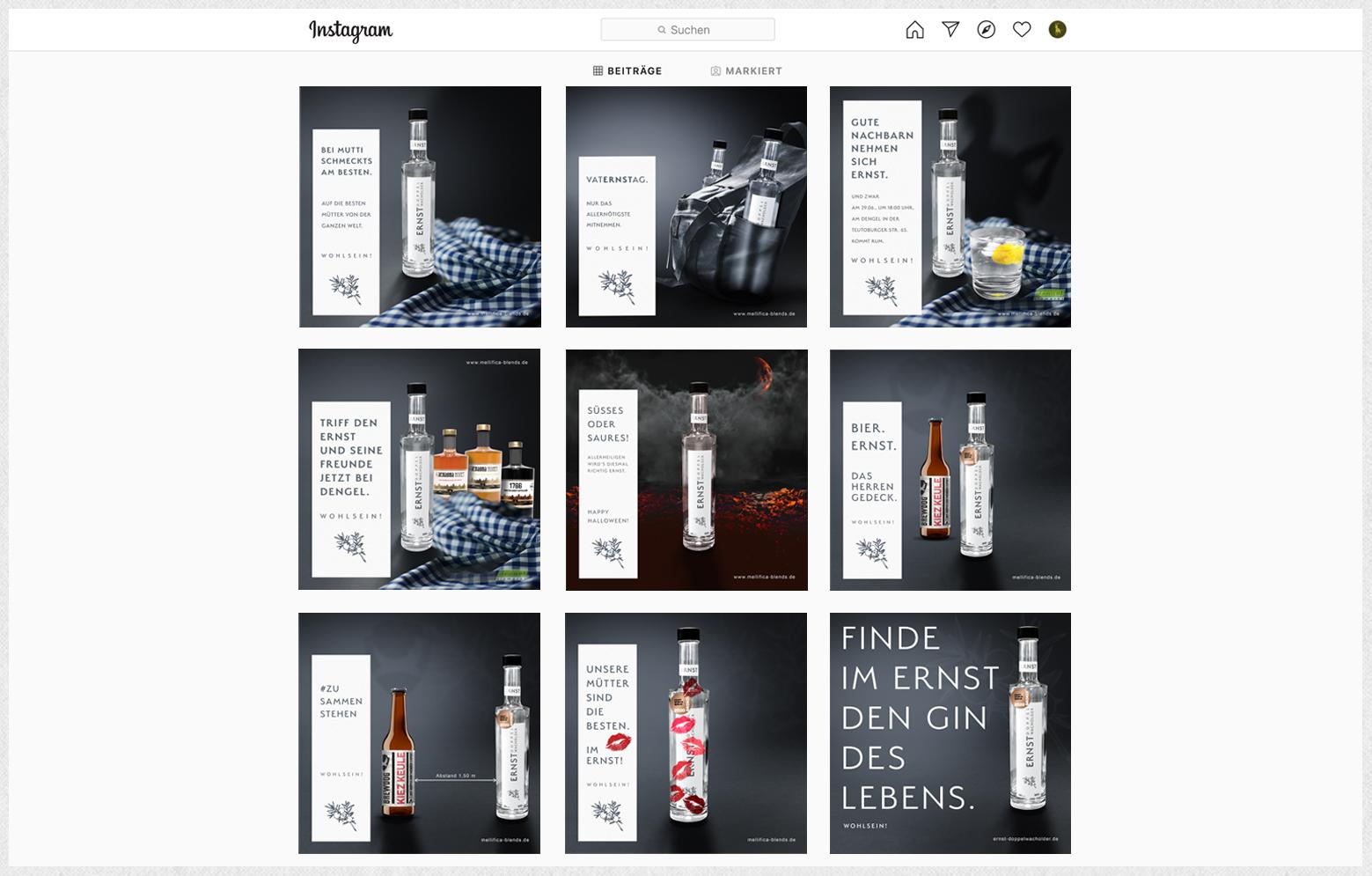 Ernst Instagram zweite Postings
