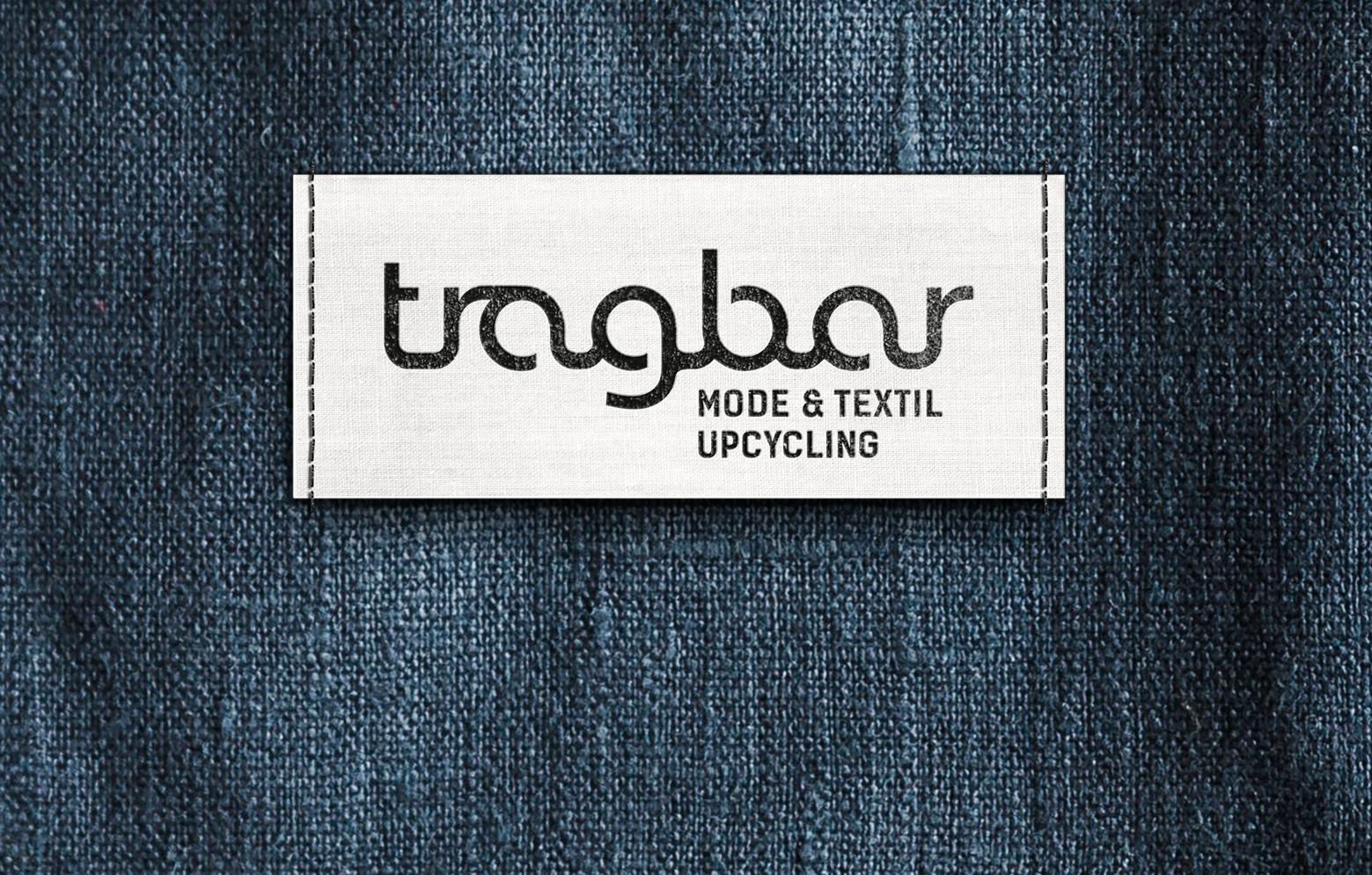 Close-Up von Jeansstoff mit tragbar Label