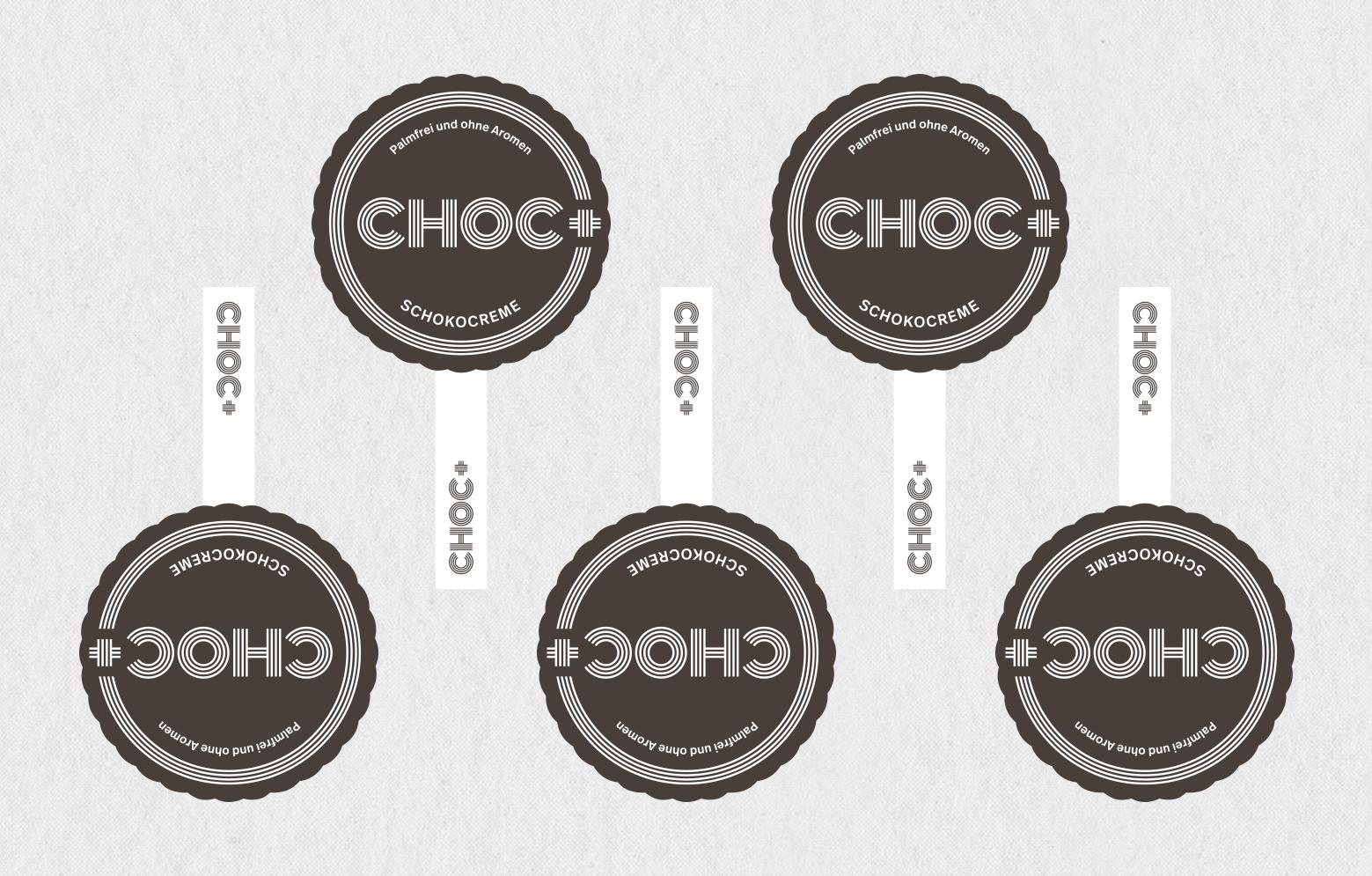 KRAUME CHOC+ Deckeletiketten