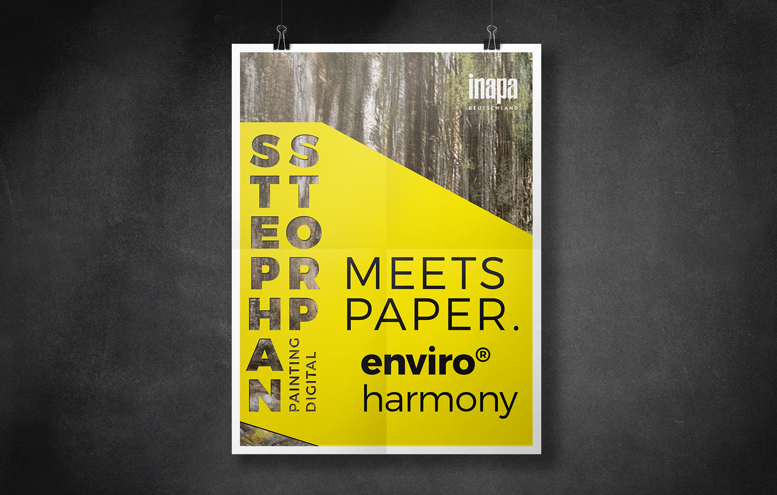"Poster für Inapa ""Stephan Storp meets Paper"""